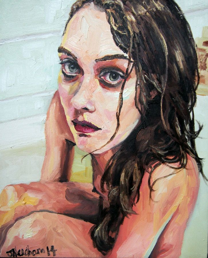 Bath - Original oil painting on stretched canvas for sale online at StateoftheART Gallery