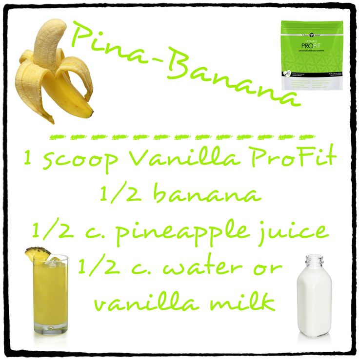 Pina Banana Ultimate ProFit Shake Recipe - YUMMY!!  https://3skinnysisters.myitworks.com/