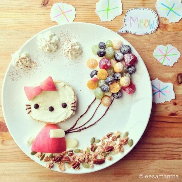 Malaysian mother Samantha Lee creates creative meals and culinary illustrations using all kinds of food