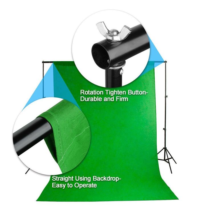 Amazon.com : Excelvan Photography Lighting Kit 1250W Daylight Umbrella + Backdrop Support Stand (10x6.5FT) + 3 Background (9x6FT, White Black Green) : Camera & Photo