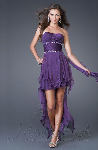 Коктейльное короткое платье для выпускного бала, фото 1