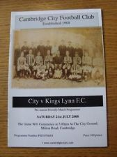 21/07/2008 Cambridge City v Kings Lynn [Friendly]
