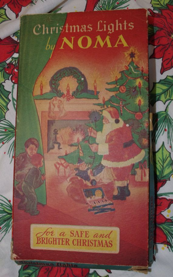 Vintage Noma Christmas Light Set in Box 1940s by soldiersuzanne