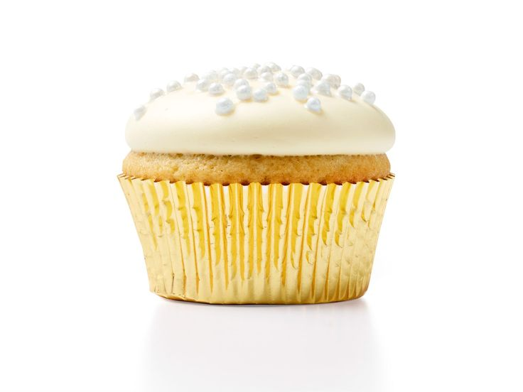 January: Champagne-Vanilla Cupcakes : Ring in the New Year with bubbly-flavored cupcakes. Be sure to refrigerate these cupcakes immediately after frosting to let them set.