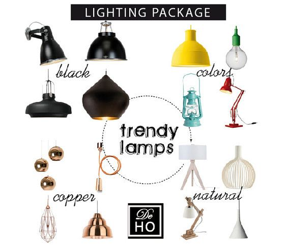 Lighting design service: 3 lamps selected for your space  by DeHo