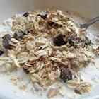 muesli--I always forget about this for quick breakfasts.  It's so good and so easy and any dried fruits and nuts can go in it.  It's great hot or cold or on yogurt.