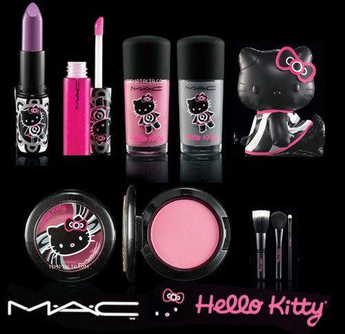 Cosmeticos de Hello Kitty! Para todas las amantes de esta linda muñequita. #makeyap #makeup #girly #HelloKitty