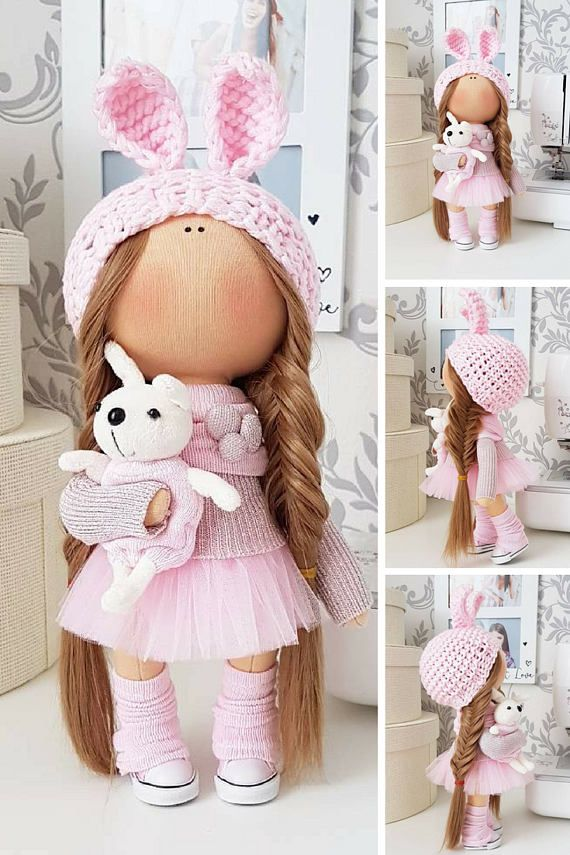 Bunny doll Tilda doll Cloth doll Handmade doll Panenka Muñecas