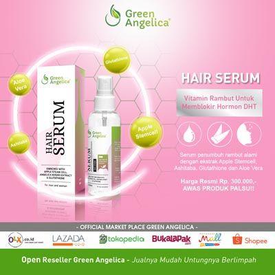Segera kembalikan kesehatan rambut anda dan atasi kebotakan dan rontok dengan green angelica serum penumbuh rambut