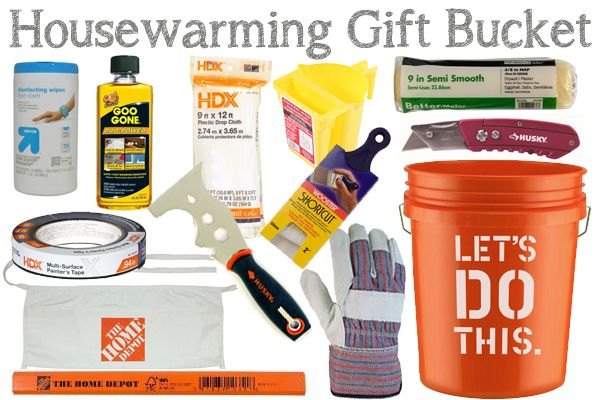 Housewarming Gift Bucket - a perfect gift for new home owners!