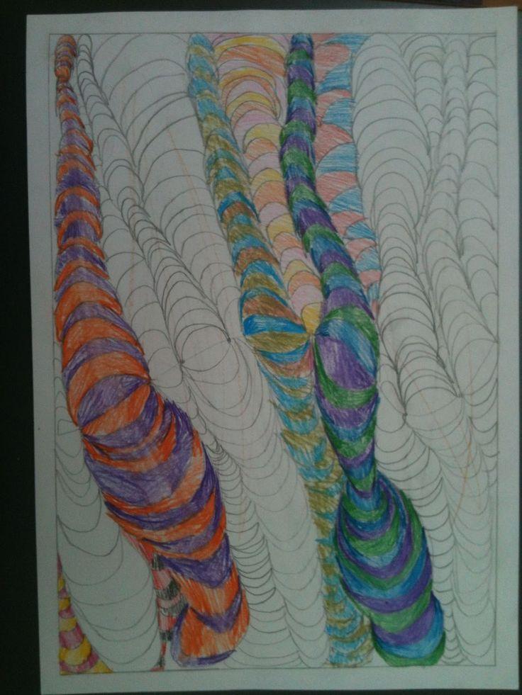 Fru Billedkunst - NY ADRESSE - www.FruBilledkunst.dk: Op art - 3.del: tornadoer