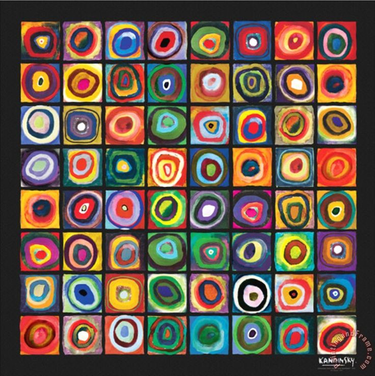 kandinsky paintings | ... of Squares painting - Wassily Kandinsky Color of Squares Art Print