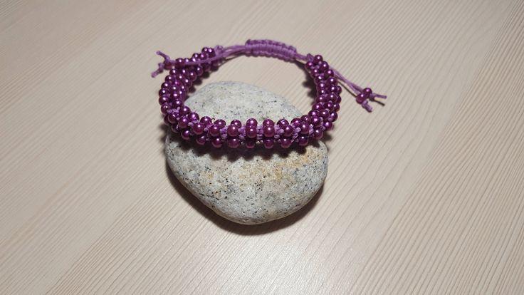 Female bracelet from beads. Lilac bracelet as a gift. by ManybraceletsDesign on Etsy