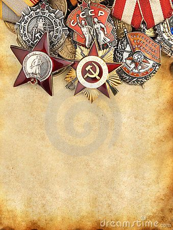 russian medals   World War II Russian Military Medals Royalty Free Stock Photography ...