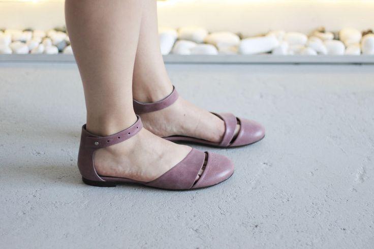 HEIDI - Lilac - FREE SHIPPING Handmade Leather Shoes by Keymandesign on Etsy