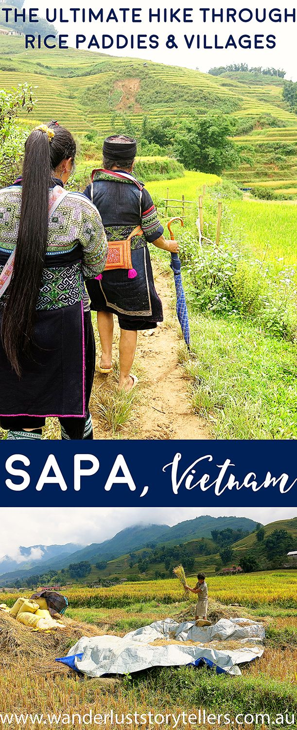 Trekking through the Sapa Valley and Mountains, past beautiful rice fields, through some interesting Minority People's Villages in Vietnam!  Read more on wanderluststorytellers.com.au