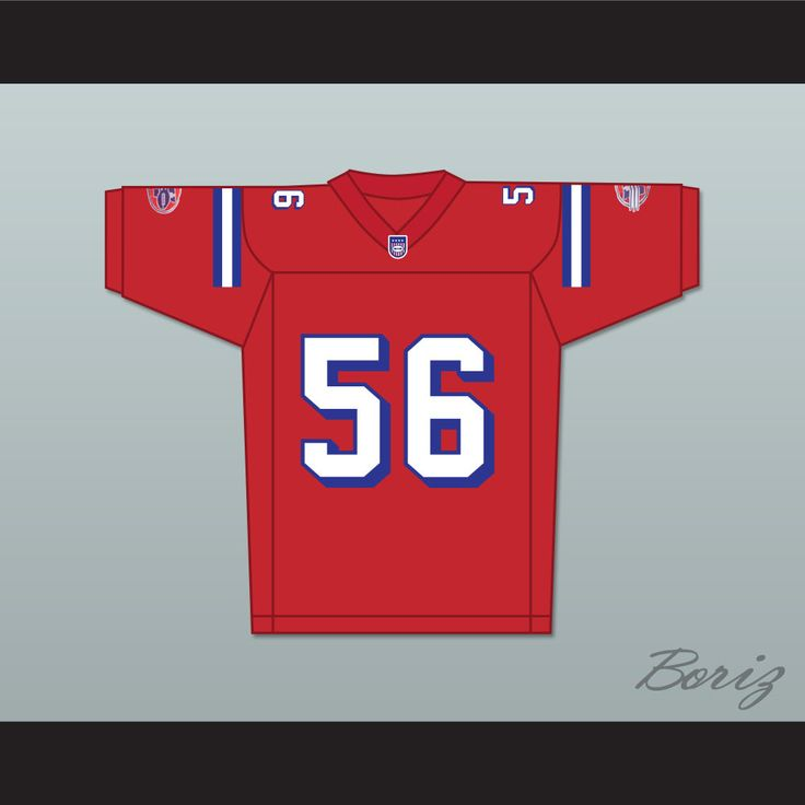 Jon Favreau Daniel Bateman 56 Washington Sentinels Home Football Jersey The Replacements. STITCH SEWN GRAPHICS  CUSTOM BACK NAME CUSTOM BACK NUMBER ALL SIZES AVAILABLE SHIPPING TIME 3-5 WEEKS WITH ONLINE TRACKING NUMBER Be sure to compare your measurements with a jersey that already fits you. Please consider ordering a larger size, if you plan to wear protective sports equipment under the jersey. HOW TO CALCULATE CHEST SIZE: Width of your Chest plus Width of your Back plus 4 to 6 inches to…