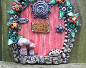 Fairy Door Pixie Portal Home Decor Fairy Garden by Claybykim