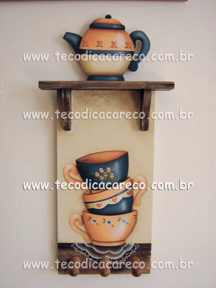 Country madera painting cup