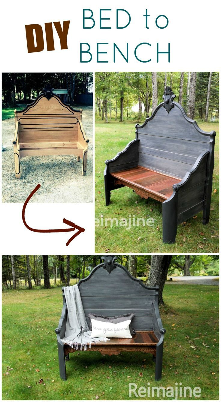 Bench Out Of Headboard Best 25 Bed Frame Bench Ideas Only On Pinterest Headboard Redo