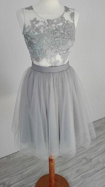 Komplet-koronkowy top ze spódnicą tiulową  - MatMari - Spódnice tiulowe i halki