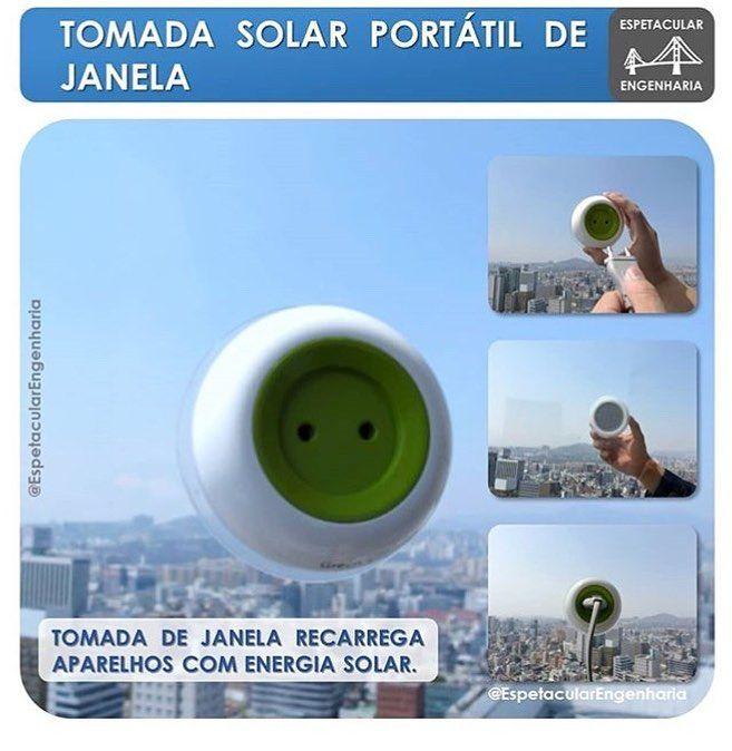 A Window Socket Tomada De Janela Oferece De Forma Muito Elegante E Inteligente Uma Maneira De Aproveitarmos A Energia Solar E Usá La Instagram Solar Fotos