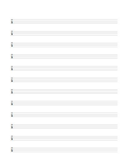 Best Tabature Paper Printable Images On   Guitars