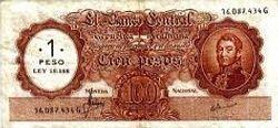 Billetes Peso Ley 18.188