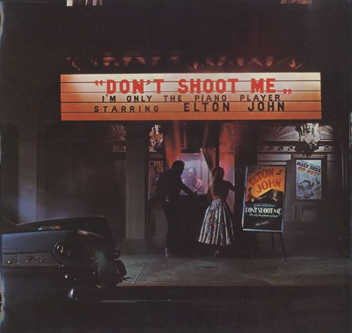 For Sale - Elton John Don't Shoot Me I'm Only The Piano Player - Turquoise Vinyl UK  vinyl LP album (LP record) - See this and 250,000 other rare & vintage vinyl records, singles, LPs & CDs at http://eil.com