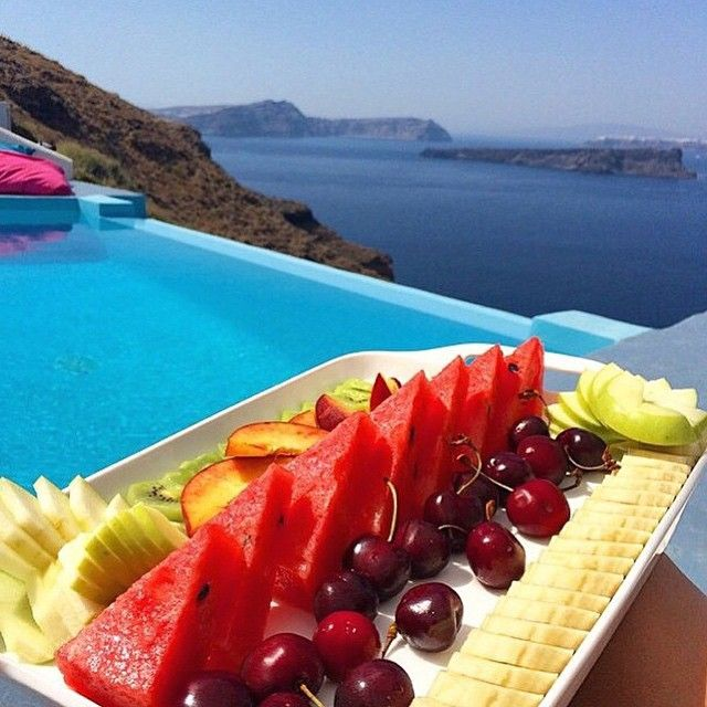 This is how your day starts at #AstarteSuites! #Santorini