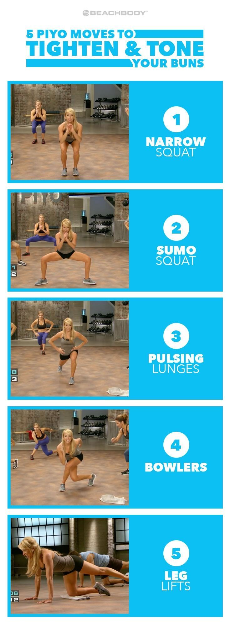 This is the butt workout you've been looking for. These 5 easy moves will tighten your booty in no time. Read on to find out why it works. butt workouts // PiYo // Chalene Johnson // toned butt // best butt workout // home butt workouts // strong glutes exercises // Beachbody // Beachbody Blog