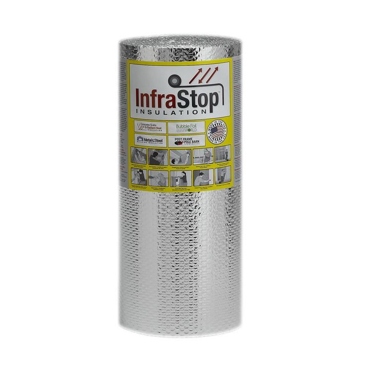 "InfraStop 24"" X 25' Double Bubble Reflective Foil Insulation Used to make insulating window covers"