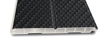 Dekodeck-Fassadenpaneele V1 im Carbon-Look