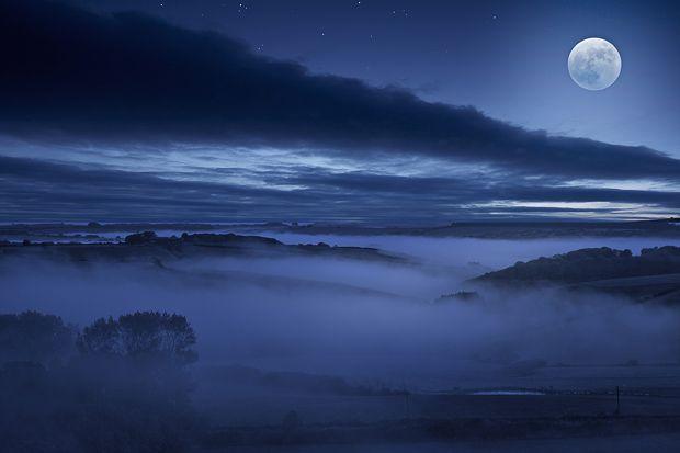 Moonlit valleys, Dorset