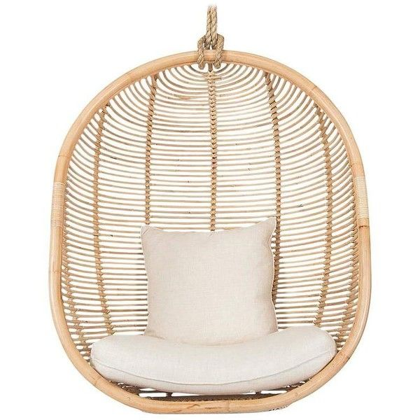 Naples Natural Rattan Hanging Chair   435    liked on Polyvore featuring  home. Best 25  Natural outdoor furniture ideas on Pinterest