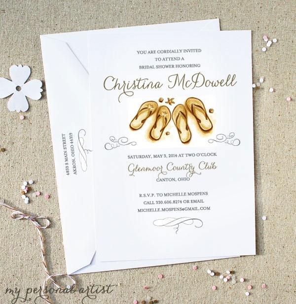 Beach theme invitations #bridal #shower