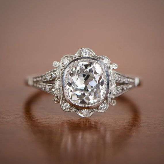 Best 25 antique style engagement rings ideas on pinterest 150ct old mine diamond handmade platinum mounting art deco style engagement ring vintage junglespirit Image collections