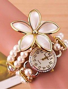 κυκλική φούντα λουλούδια χέρι χαλαζία ρολόι αλυσοειδούς γυναικών