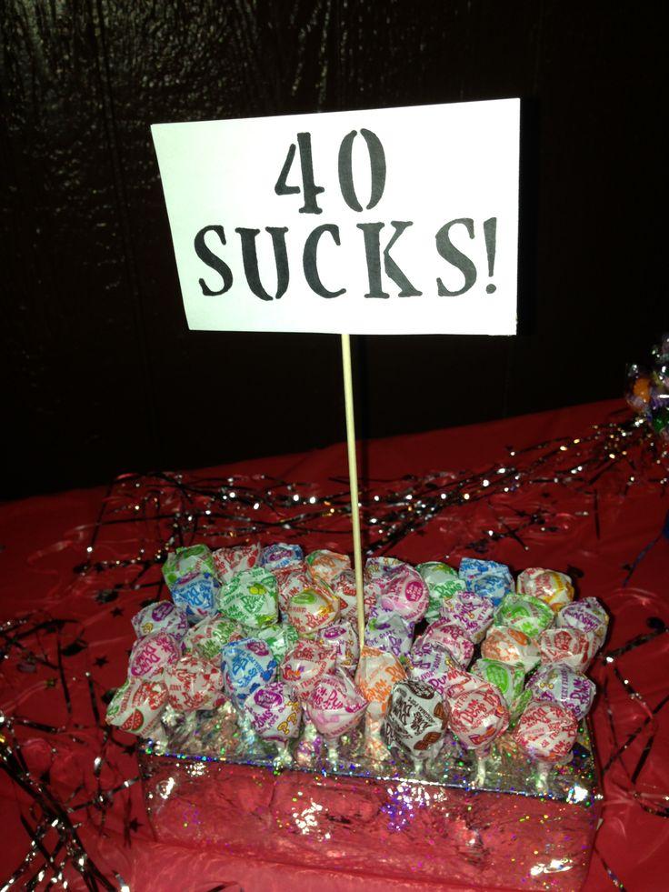 40th birthday party ideas craft ideas Pinterest