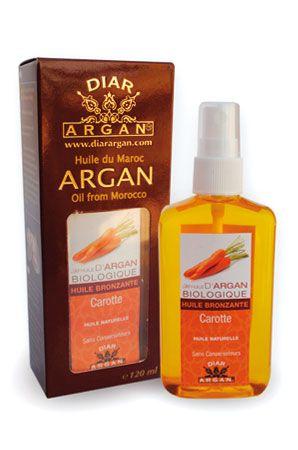 Olio abbronzante all'olio di Argan e Carote  Ricco in vitamina E e carotene. E' un ottimo alleato per un'abbronzatura rapida e intensa proteggendo la pelle. Quest'olio naturale all'Argan e all'estratto di carota,  prolunga  l'abbronzatura, lasciando sulla pelle un effetto smagliante.  Consigli d'uso: Applicare sul corpo prima di esporsi al sole. Evitare di esporsi tra le 12'00 e le 15'00.