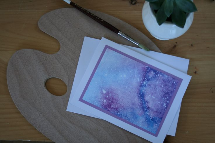 Glorious Galaxy- a beautiful card  $4.75CAN Art. Ink. Watercolor. Watercolour. Cards. Greeting cards. Watercolor art. Galaxy painting.