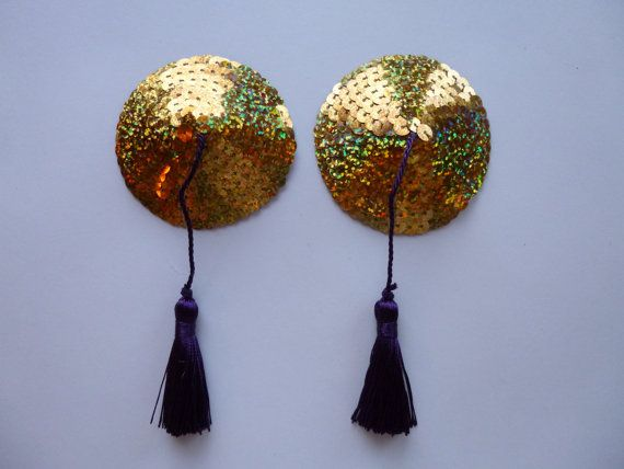 Gold Sequin Nipple Tassels For Bride Pasties Titty