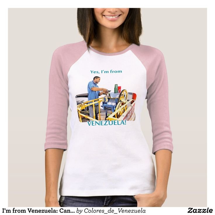 I'm from Venezuela: Cane guarapo T-Shirt - Fashionable Women's Shirts By Creative Talented Graphic Designers - #shirts #tshirts #fashion #apparel #clothes #clothing #design #designer #fashiondesigner #style #trends #bargain #sale #shopping - Comfy casual and loose fitting long-sleeve heavyweight shirt is stylish and warm addition to anyone's wardrobe - This design is made from 6.0 oz pre-shrunk 100% cotton it wears well on anyone - The garment is double-needle stitched at the bottom and…