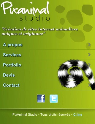 pixanimal studio mobile website