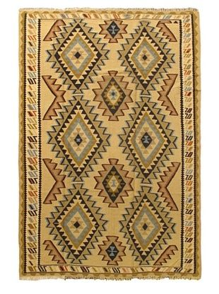 -33,850% OFF Ankara Kilim Tribal Kilim, Light Yellow, 6' 2