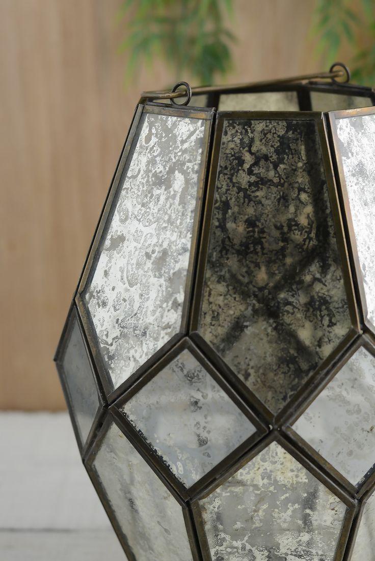 Mid-century Modern Lantern 7.25x9.75in