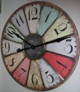 "Amazon.com: Large 29"" Vintage Style Paris Wall Clock: Home & Kitchen"
