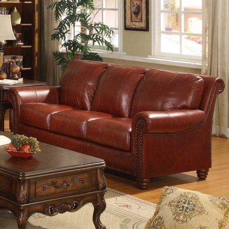I Pinned This Sleigh Leather Sofa From The Presidential Panache Event At  Joss And Main!