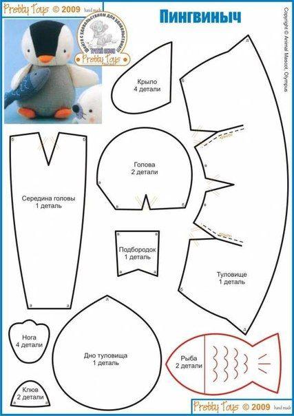 Patrones de pinguinos navideños con fieltro09