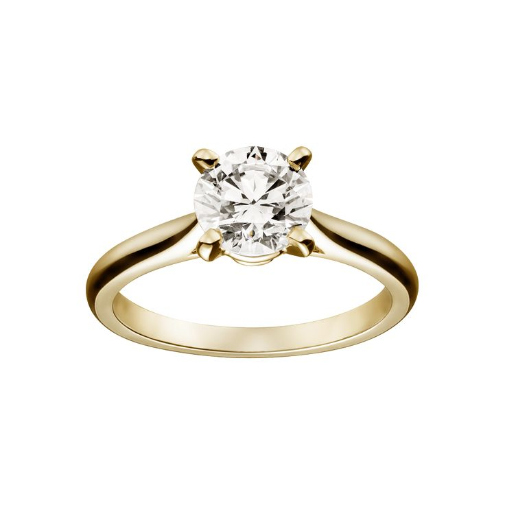 Solitaire 1895 - Engagement Rings Yellow gold, diamond - Fine Engagement Rings for women - Cartier